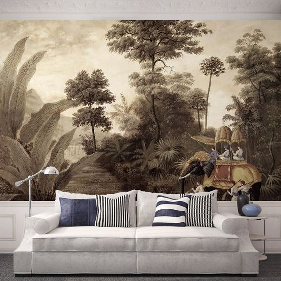 peintures murales canap and peintures murales on pinterest. Black Bedroom Furniture Sets. Home Design Ideas