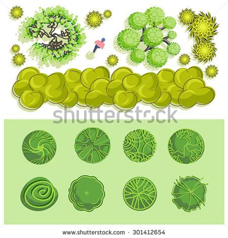 trees and bush item top view for landscape design vector icon stock vector from the largest library of royalty free images only at shutterstock awesome office table top view shutterstock id