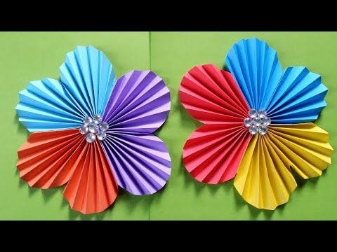 How To Make A Flower With Colour Paper Easy Simple Easy