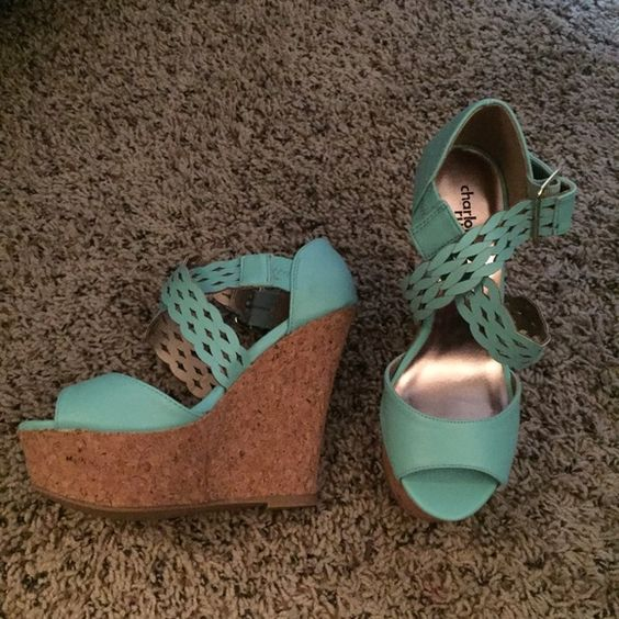 NWOT Charlotte Russe wedges Size 7 brand new Charlotte Russe Shoes Wedges