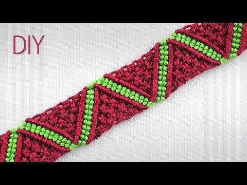 How to Make a Macrame ZigZag Surf Bracelet - YouTube