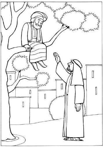 Zacchaeus Coloring Pages For Preschoolers Coloring Zaccheo Le
