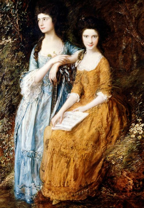 Thomas Gainsborough. Elizabeth and Mary Linley, 1772.