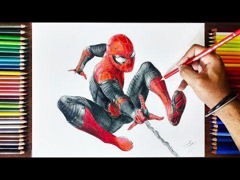 Drawing Spiderman Far From Home Timelapse Youtube Spiderman Avengersendgame Spidermanfardeomhome Drawingsp Drawings Spiderman Tom Holland Spiderman