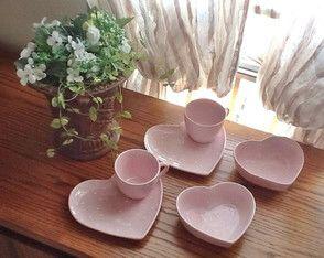 Conjunto rosa de poá