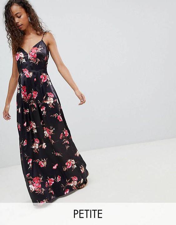 Parisian Petite Floral Maxi Dress