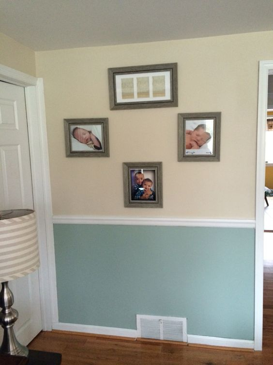 Zen By Behr Bottom And Natural Almond By Behr Top Rustic Frame From Kohls Lamp From Christmas