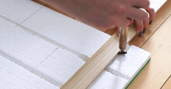 How To Make A Faux Brick Wall Using Insulation Boards And Plastic Welder1