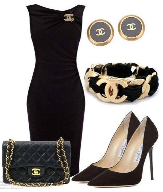 O vestido preto permite abusar dos statement accessories