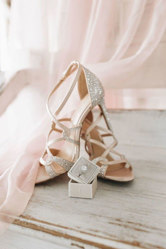Sparkly Wedding Shoes For Bride Strappy Heels For Bride August