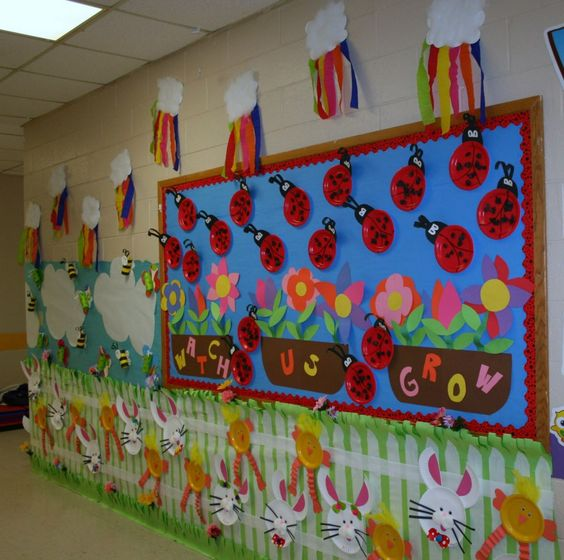 Classroom Decoration Ideas For Spring : Classroom spring hallway decoration crafts