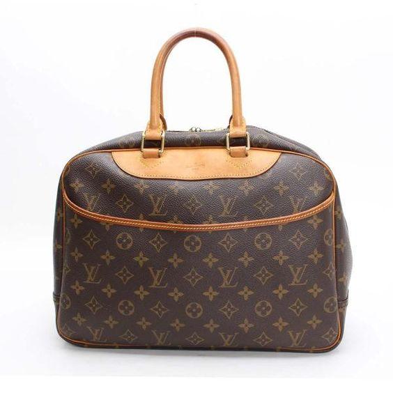 Louis Vuitton Boring Vanity (Deauville)  Monogram Handle bags Brown Canvas…