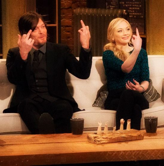 Emily Kinney and norman reedus interview