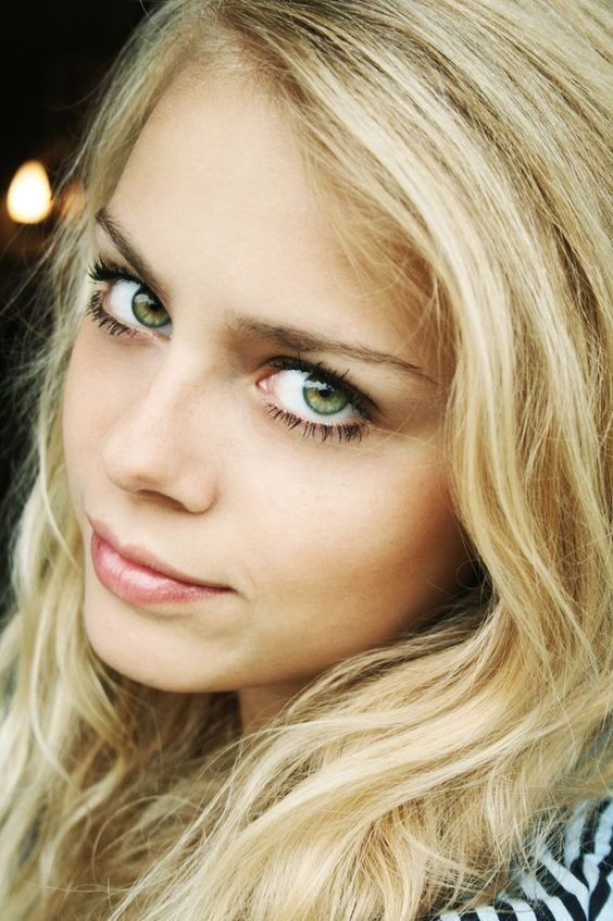 Good luck! blonde girl green eyes opinion you