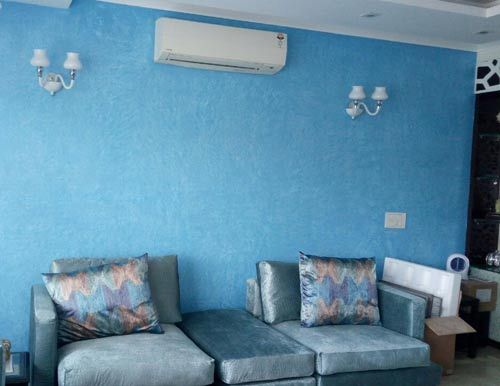 Paint Texture On A Home Wall In Blue Color Indian Living Rooms Indian Living Room Design Room Paint Designs