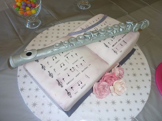Flute Cakes And Book On Pinterest