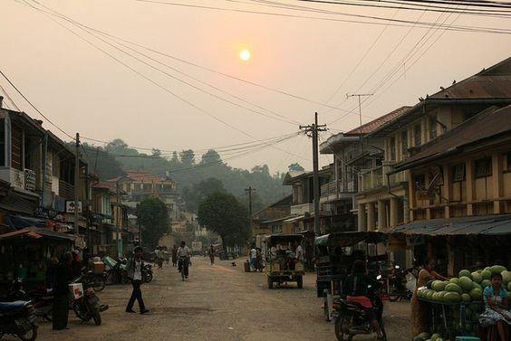 Street in Kyaukme, Myanmar | Flickr - Photo Sharing!