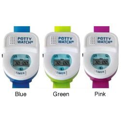 Potty Watches  :) (www.pottytimeinc.com) (top fav. products) :) LOVE LOVE LOVE LOVE LOVE these & will purchase another when Karis gets bigger. So worth the $ to me...b/c honestly it was for me b/c I would forget to take Kake frequently enough that she'd get too much in her & she couldn't get to the potty quickly enough...so this reminded both of us it was time for a potty break. :)