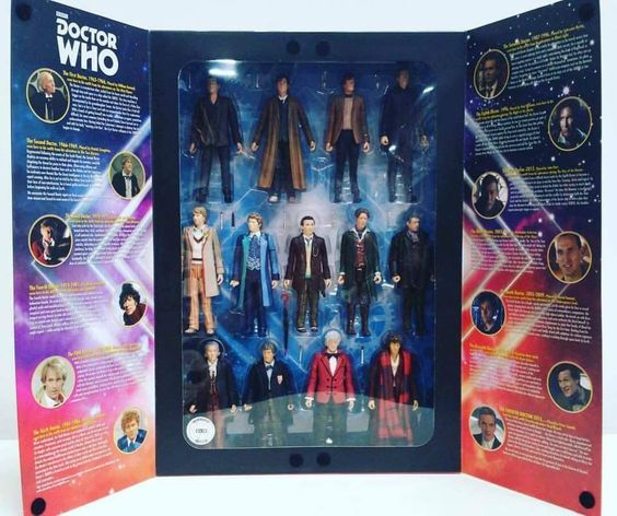 The new Doctor Who 13 Doctor set as debuted at San Diego Comic-Con 2016. All 13…