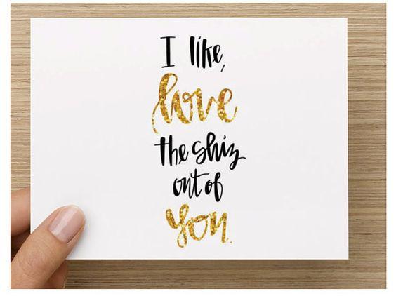 Gold script font greeting card i love the shiz out of by onceaginn gold script font greeting card i love the shiz out of by onceaginn once aginn etsy shop pinterest m4hsunfo