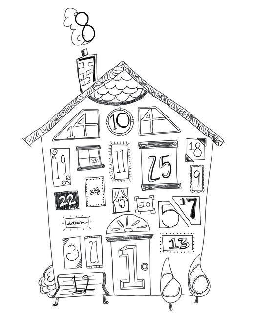 Advent Calendar at @studio_calico FREE printable and digital cut file. Cute advent calendar.