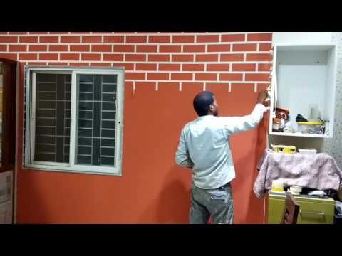 Asian Paints Brick Texture Youtube Painted Brick Asian Paints Brick Texture