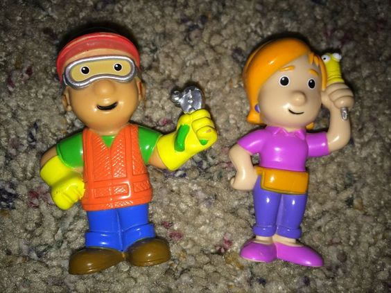 Handy Manny Kelly Figure Toy Lot Replacement Cake Topper Set Disney Jr
