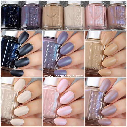 Lacquerstyle.com: Essie 2015 Cashmere Matte Collection - Swatches & ...