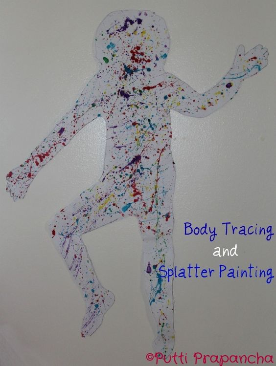 Splatter Painted body silhouettes !!!