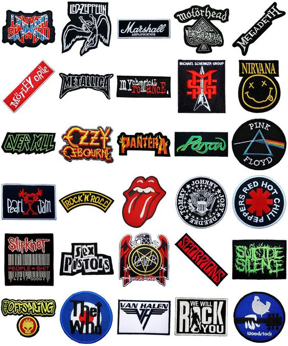 details about music songs heavy metal punk rock band logo