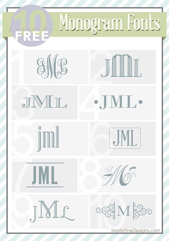 best ever FREE fonts for Monograms! Great ideas on how to use monograms too!   www.MoritzFineBlogDesigns.com
