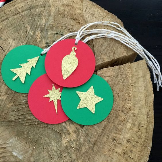 12 Christmas favor tags .. holiday favor tags .. by Craftandababy