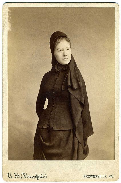 Cabinet Card, Anonymous Woman In Mourning, Brownsville, Pennsylvania.
