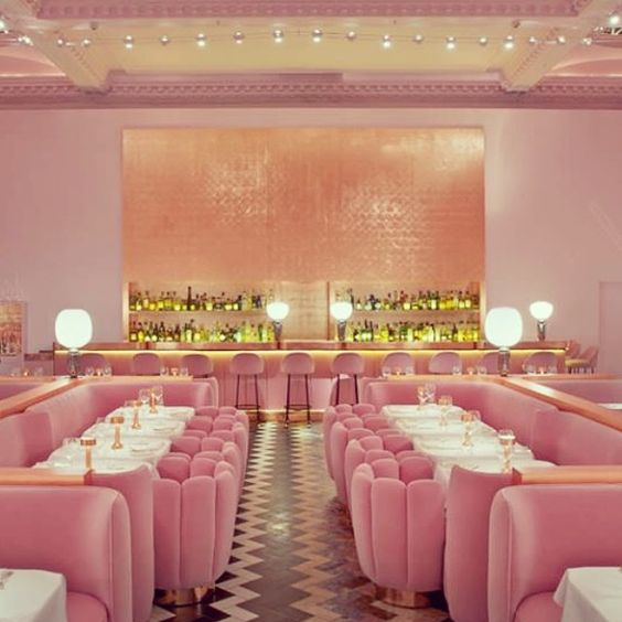 This pink tea room is how we warm up in winter. Really, we do.