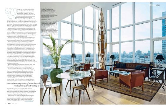 Hollister Hovey (Hovey design) in Living Etc. (divided room function inspiration):