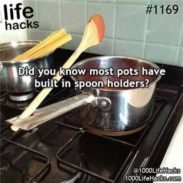 Built in spoon rest! Who knew?!?