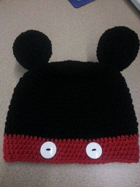 Micky Mouse Beanie by LadyBoochieCrafts on Etsy