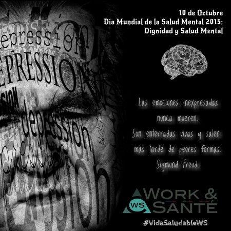 El Día Mundial de la Salud Mental se conmemora todos los 10 de octubre, con una campaña que busca concentrar la atención mundial en la identificación, tratamiento y prevención de algún trastorno emocional o de conducta. #DiaMundialSaludMental #SaludMental #VidaSaludableWS #WorkSante
