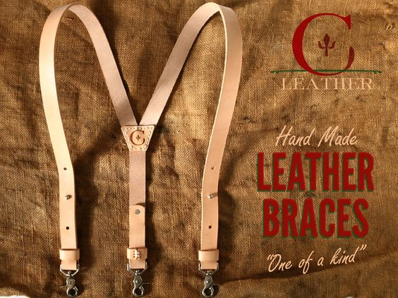 Context Leather x Natural Leather Braces