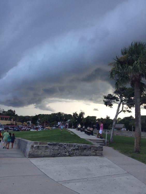 Low flying clouds at Castillo de San Marcos NM.