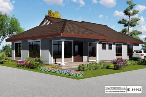 4 Bedroom African House Id 14402 House Plans By Maramani African House Model House Plan Contemporary House Plans
