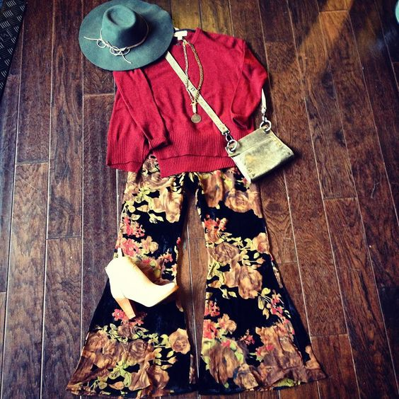These gorgeous new Flynn Skye velvet bell bottoms just arrived! www.twooldhippies.com