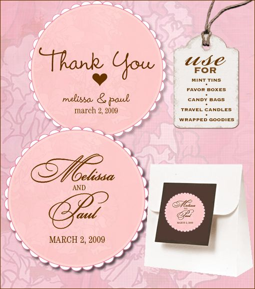 Sweet retro free wedding labels download wedding tags do it yourself and thank you labels for Wedding label templates