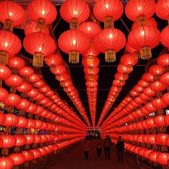 Lanterns light up the night in Chongqing, China