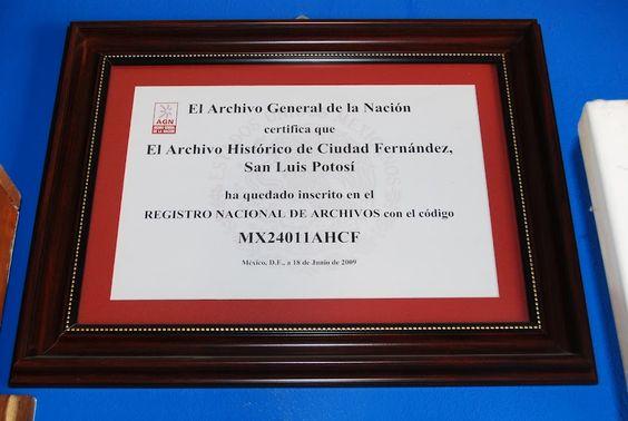 Archivo Histórico de Ciudad Fernández, S.L.P.