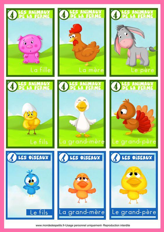 Jeu des 7 familles animaux jeux a imprimer et fabriquer pinterest animaux - Jeux d hotel pour animaux ...