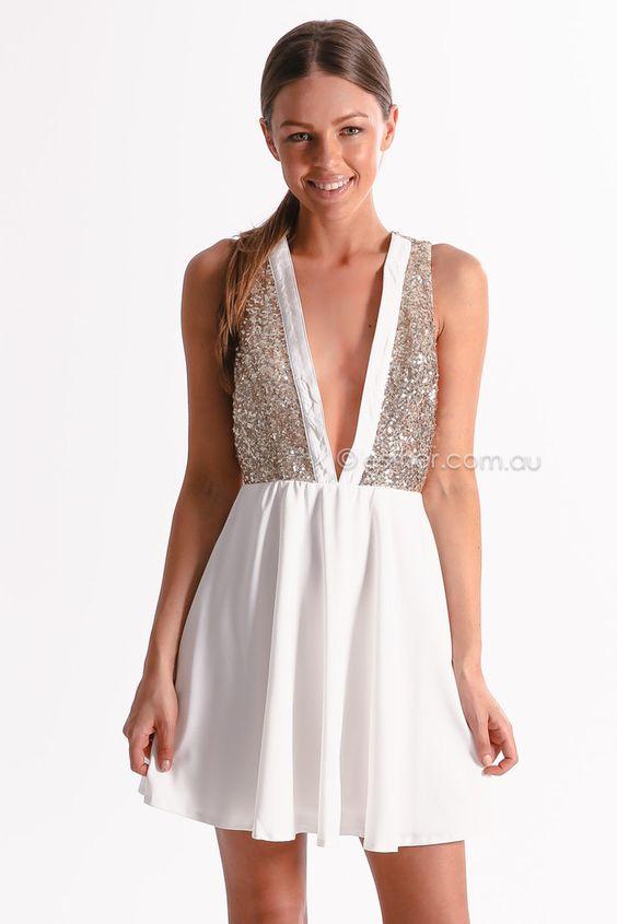 very fancy cocktail dress - white - esther boutique - Pinterest ...