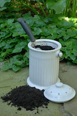 Coffee grounds are great for your garden; they provide generous amounts of phosphorous, potassium, magnesium, and copper.  As the grounds decay, they also release nitrogen into soil & produce an increase in earthworms