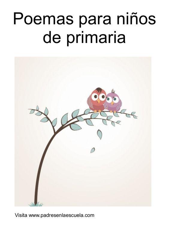 Poemas para niños de primaria by Tania Ruiz via slideshare