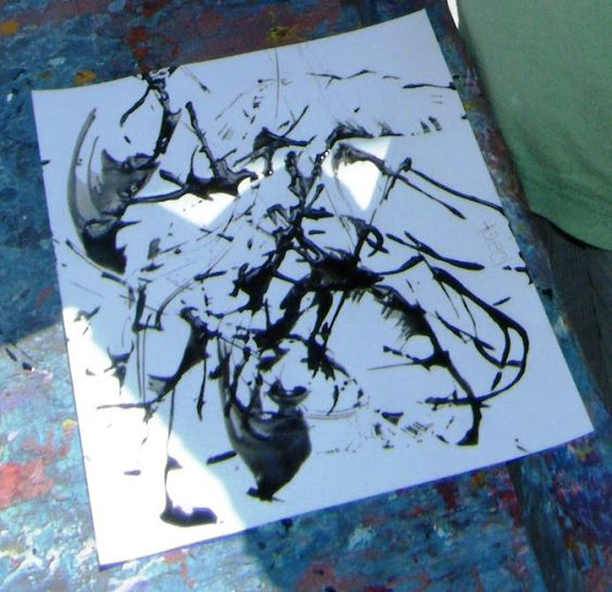 painting with string